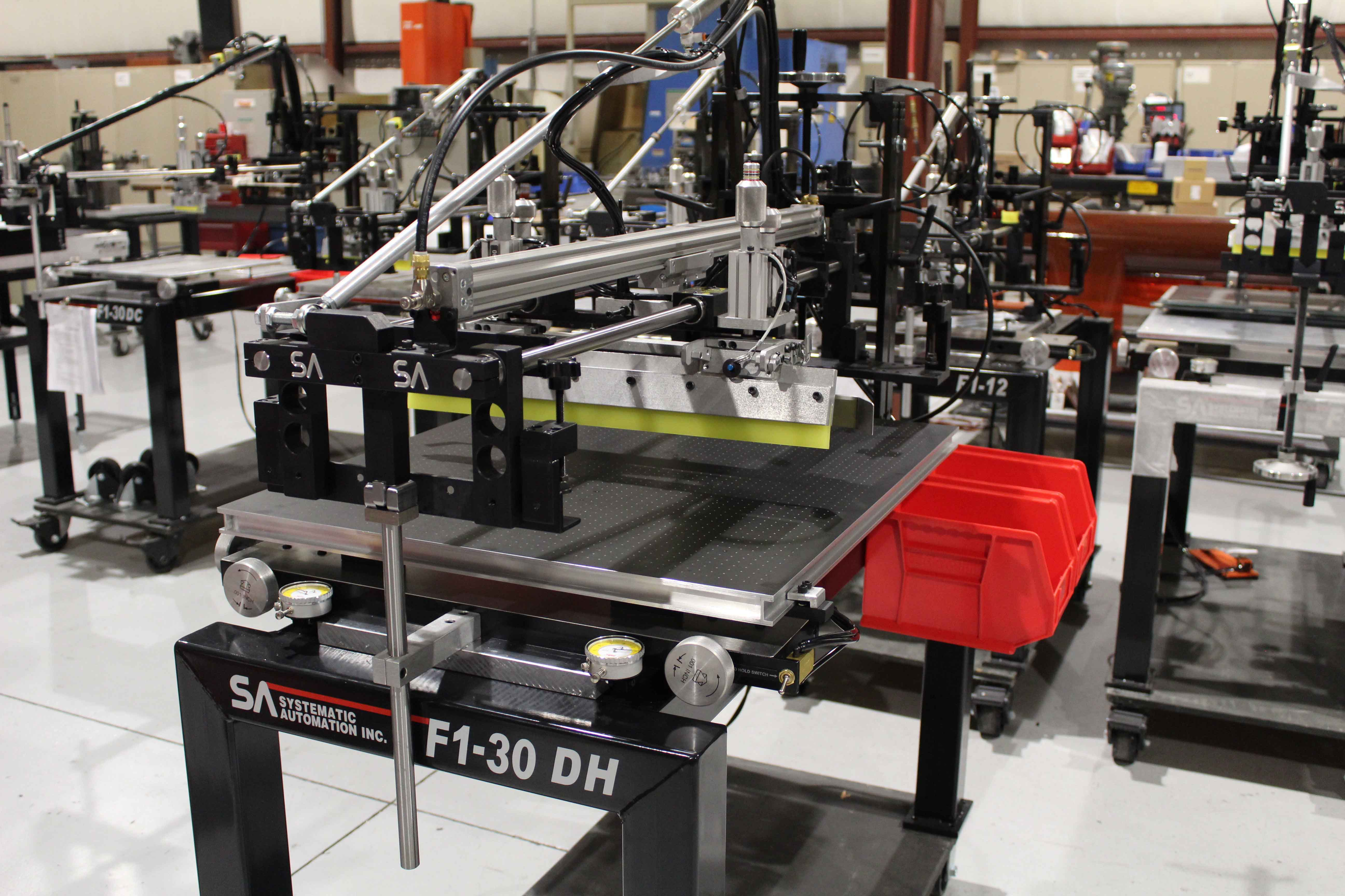 F1 Semi Automatic Screen Printer Systematic Automation Inc