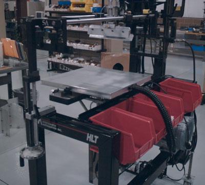 Optional vacuum table option for HLT screen printing machine.
