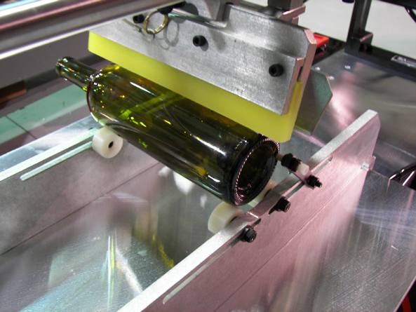 Wine Bottle Screen Printing