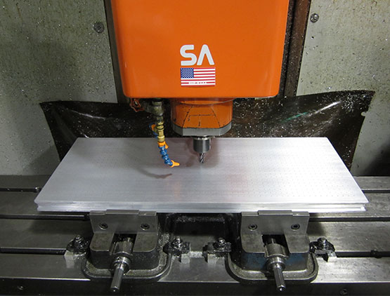 CNC Machining with Vacuum table