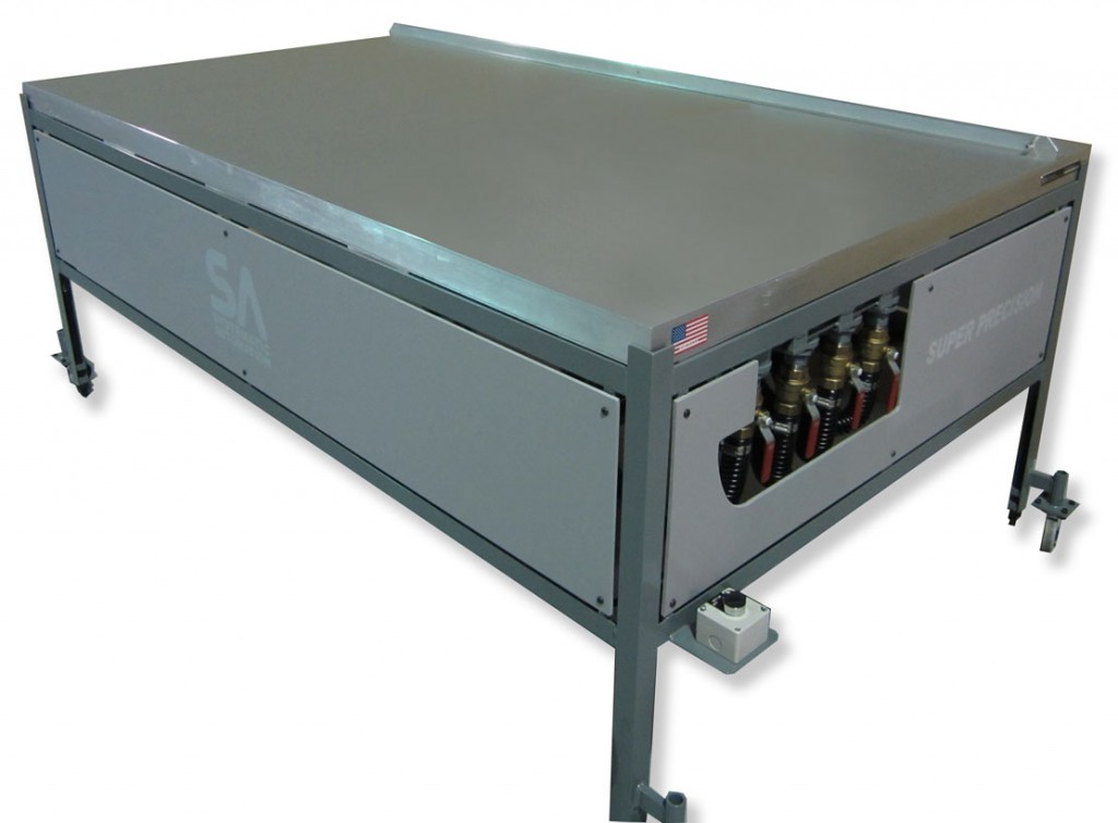 valves zones vacuum table