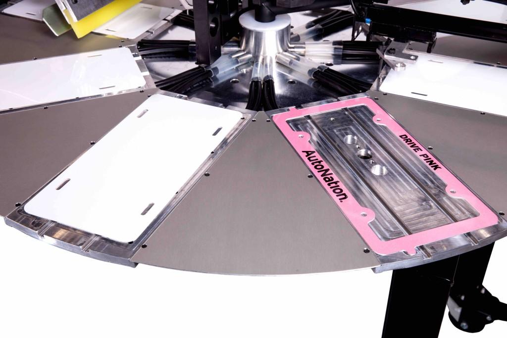 rc-1, license plates, screen printer, screen printing machine