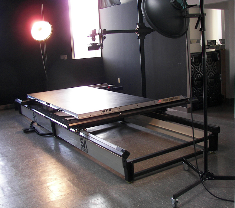 Vacuum table photos and videos systematic automation inc for digitization of historical documents blueprints paintings pictures malvernweather Gallery