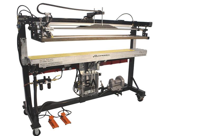 semi automatic ruler screen printer