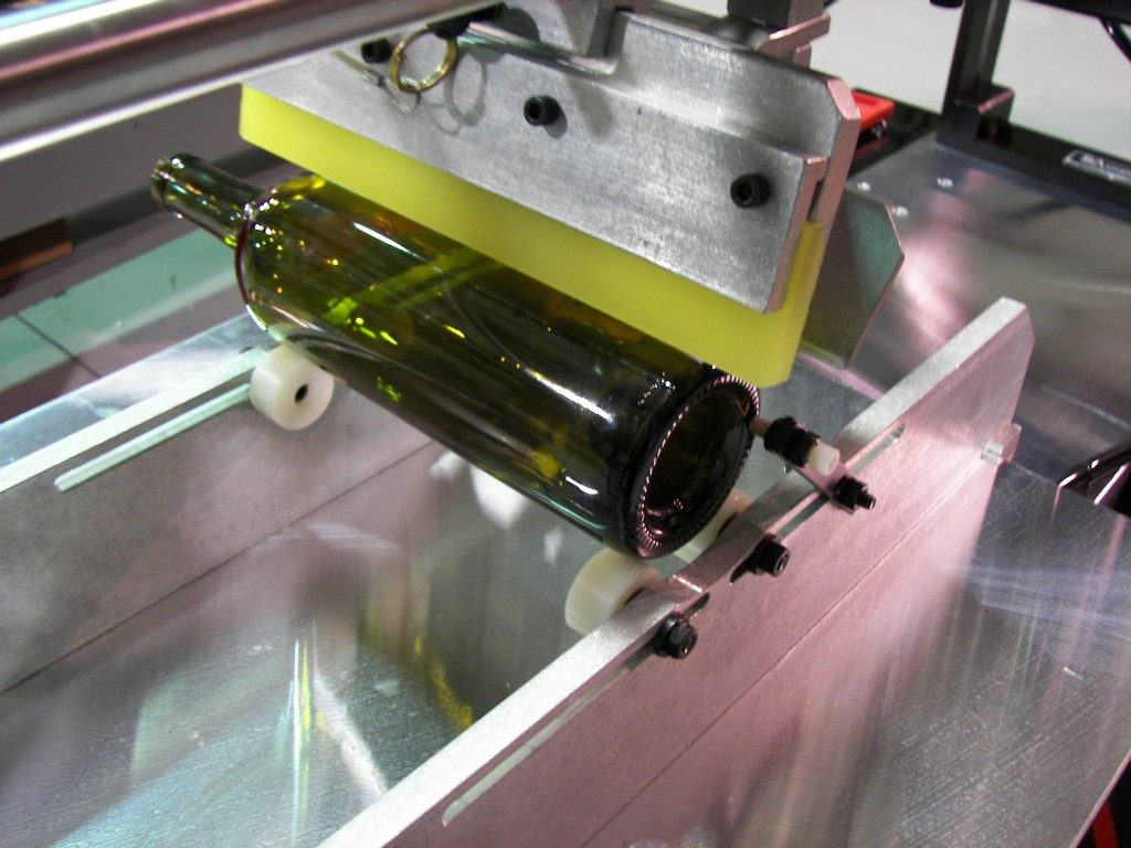 wine bottle, screen printing machine, printer