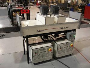 Dual UV Curing Conveyor System