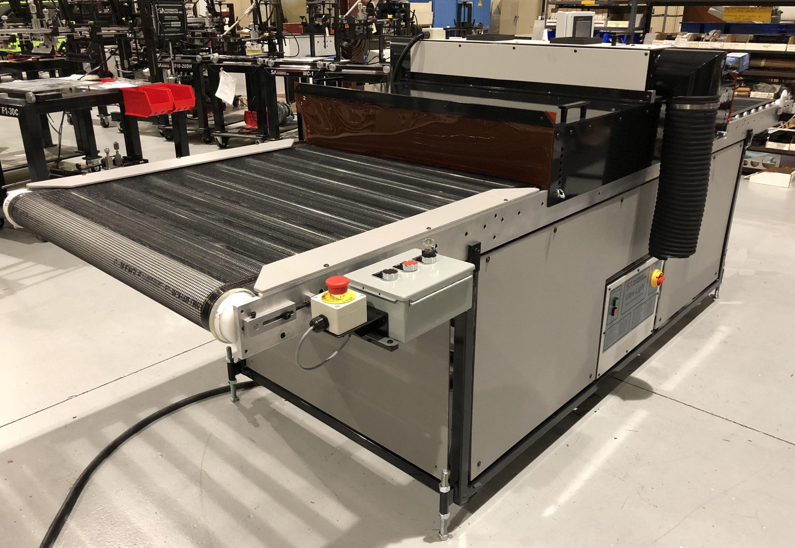 Uv conveyor, heavy duty, battery curing
