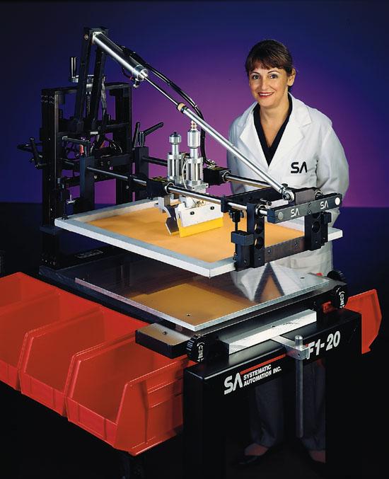 model f1, flat screen printing