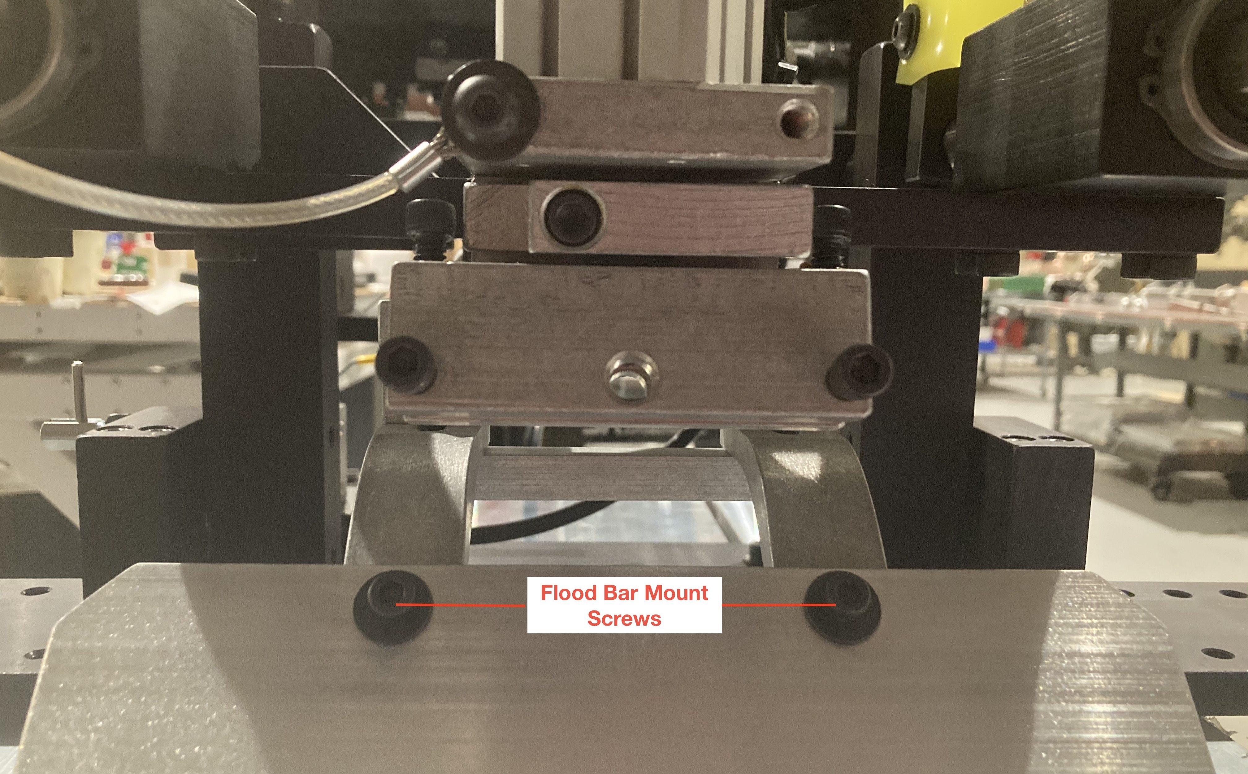 flood bar, screen printing machine