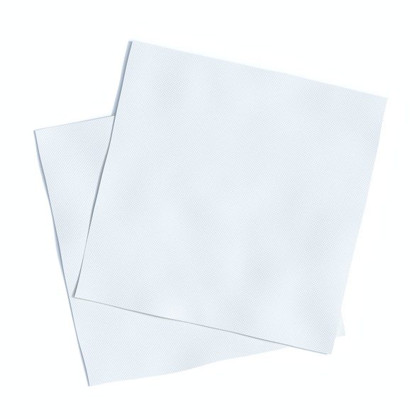napkins, isolated, 3d rendering, white background