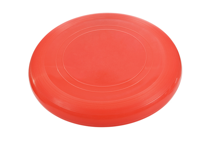 Frisbee or red flying disc