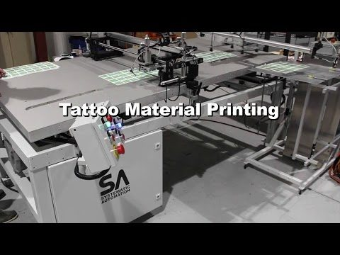 Model Air Glide Screen Printing Machine- Tattoo Material