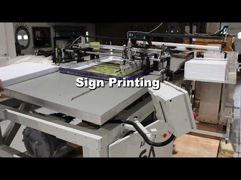 Model Air Glide - Automatic Screen Printer - Printing Signs