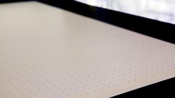 vacuum table zones